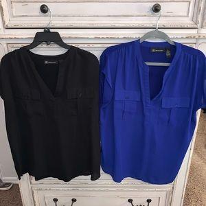 INC Black and Blue Tops, XL
